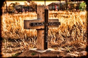 cross in a cemetery in New Mexico
