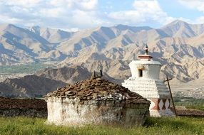 landscape of the buddhism temple in Ladakh