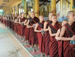 monks at the lunch