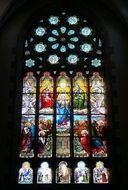 stained glass window of the church saint cast le guildo