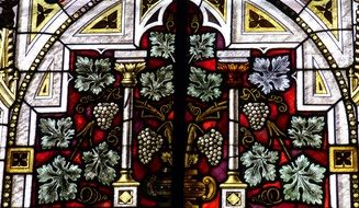 grapes on the stained glass window