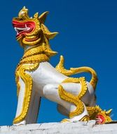 statue of a mythical creature in northern Thailan