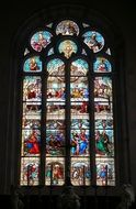 stained glass window in the lannion church