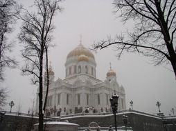 winter cathedral Moscow