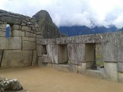 landscape of temple in Andes