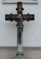 crucifix on a large wooden cross in Switzerland