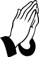 clipart of the hands praying