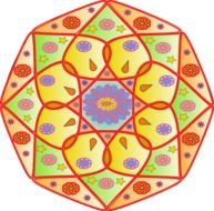 clipart of the colorful mandala