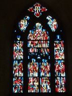 stained glass large church window
