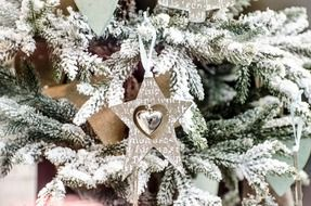 Christmas decoration in a shape of the star