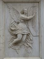 angel sculpture relief
