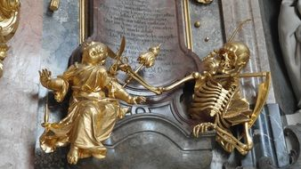 gilded figures on the catholic altar