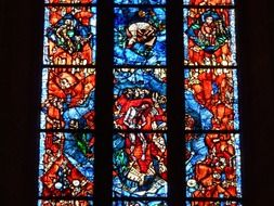 colorful and large church window