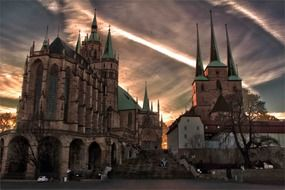 erfurt dom religion church towers