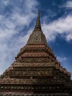 photo of the buddhism tower in Bangkok
