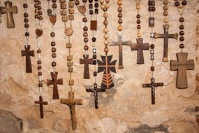 photo of the wooden christian crosses