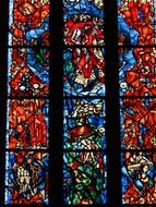 large window church glass colorful