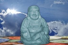 Buddha and sky background