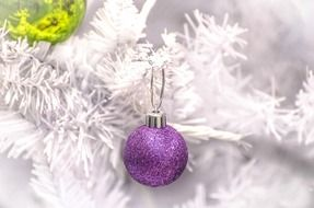 silver decoration for christmas time