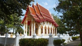 small temple in a park in Thailand