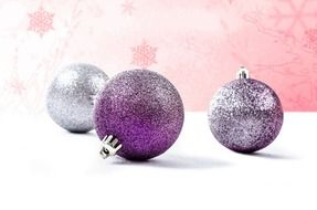 beautiful silver decoration for Christmas time