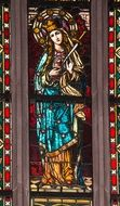 picture of the stained glass in church