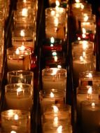 memorial candles lights