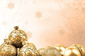 golden christmas time decoration