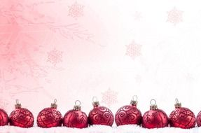 beautiful red christmas decoration