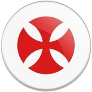 red templar cross sticker