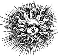 fantasy sun drawing