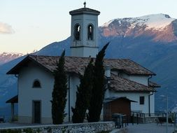 white church in the mountains of Monte Stivo