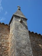 antique clock tower in Spain