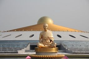gold Budha monk