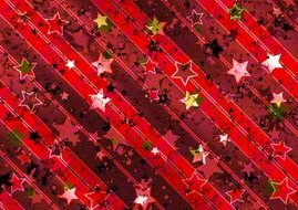 red stripes with stars