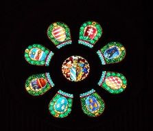 round religious stained glass windows