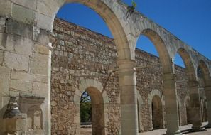 stone arches of the monastery