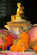 gold budha ceremony