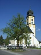 church at cemetery, germany, allgäu