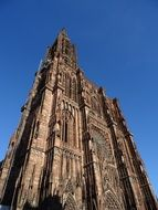 gothic cathedral in strasbourg