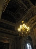chandelier in the Isaac cathedral