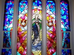 stained glass window angels jesus