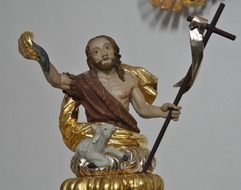 Jesus statue in the monastery