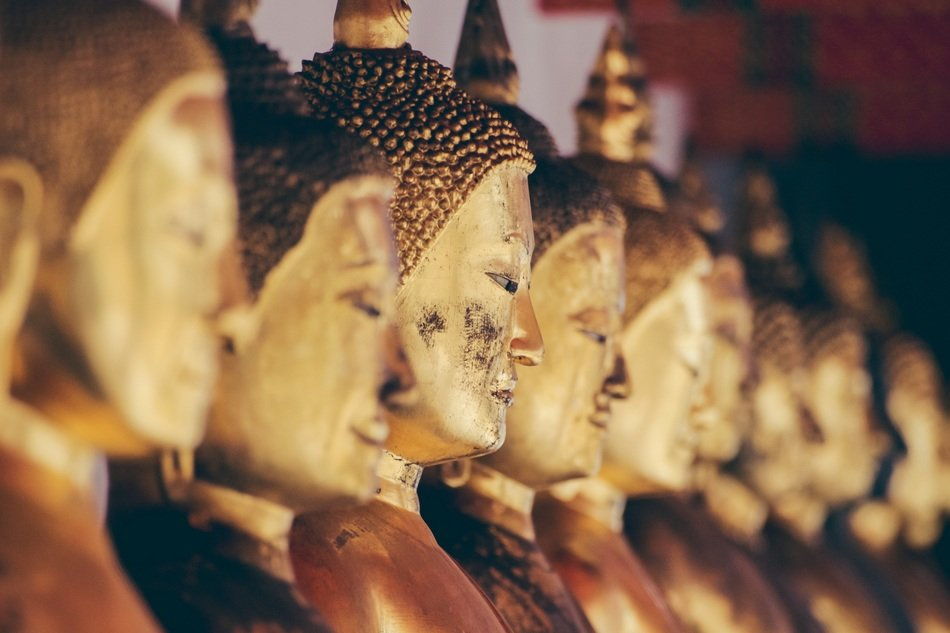 religious statues in an asian temple