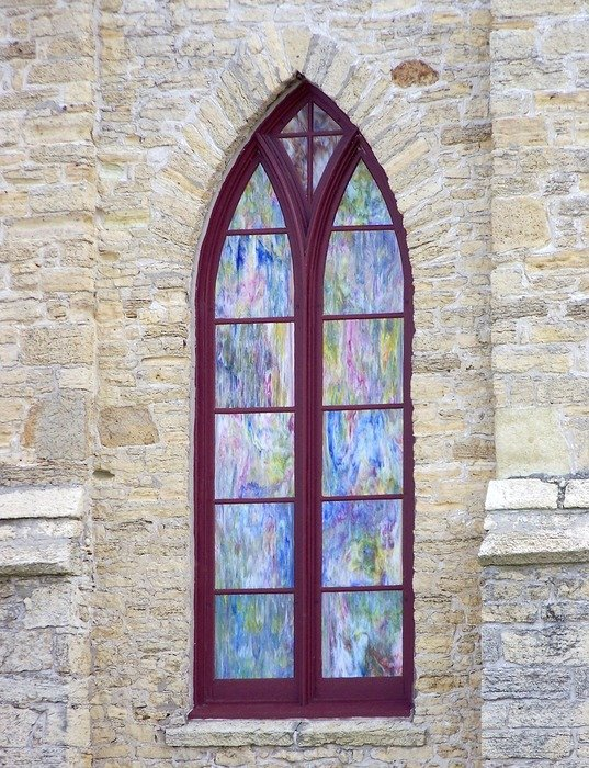 stained glass decorative window