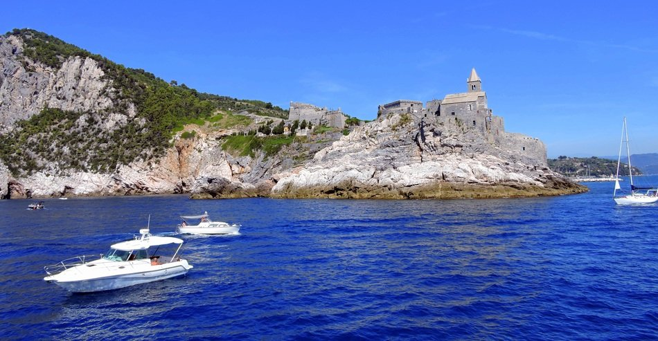 landscape of the sailing boats in Porto Venere