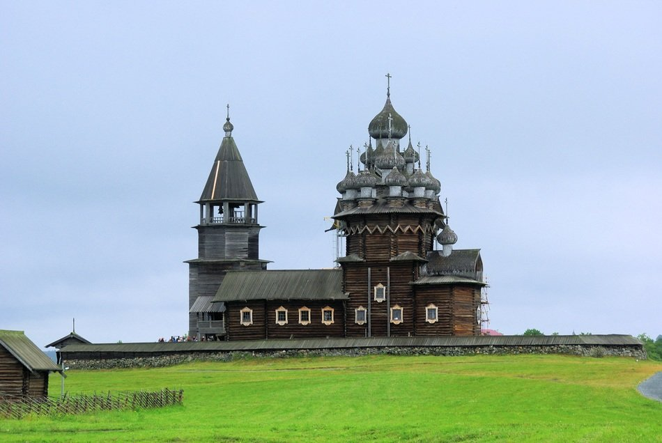 wooden church in Karelia