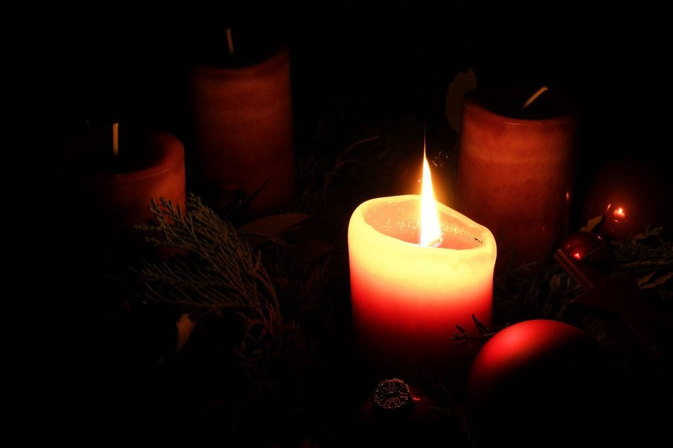 advent wreath Christmas candle