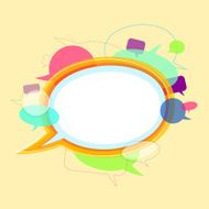 Communication concept with speech bubbles