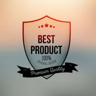Best product shield isolated on blurred background N3